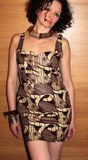 Short Brown African Print Dress