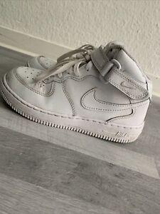 Nike Air Force 1 Mid LE Schuhe Sportschuhe Basketballschuhe Kinder weiss