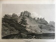 1805 impression de Clifford Castle, près de Hay-on-Wye, Herefordshire