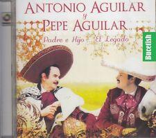 Antonio Aguilar y Pepe Aguilar Padre e Hijo El Legado CD New Nuevo Sealed