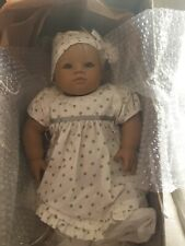 "Annette Himstedt Barefoot Babies ""Annchen"" Original Tagged Clothes and Box, Coa"
