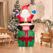 aufblasbar Weihnachtsmann Weihnachtsdeko Ladendeko Santa mit Geschenkbox 180cm