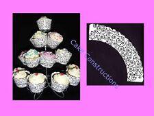 CUPCAKE WRAPPER SWIRLS BLACK AND WHITE SWIRL CAKE BIRTHDAY PARTY CUPCAKE CASE