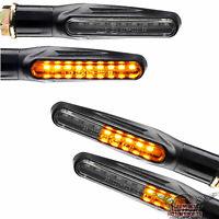 4 Motorrad Led Blinker Laufeffekt Lauflicht Sequentiell schwarz vorn hinten 12V