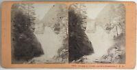 Cascade Del Ceriset Cauterets Pyrenees Foto Stereo Vintage Albumina c1868