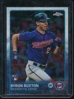 2015 Topps Chrome Byron Buxton SP RC #203 Rookie Card Minnesota Twins