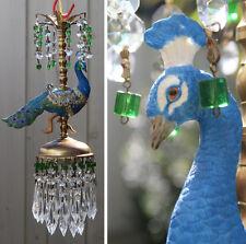 Lamp Peacock Bird porcelain Carousel Chandelier Vintage Swag Whimsical Kids room