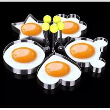 Hot Fried Egg Pancake Shaper Stainless Steal MICKEY, HEART, ROUND, STAR, FLOWER