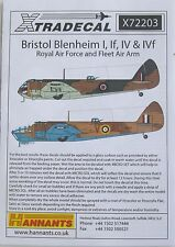 Xtradecal 1/72 X72203 Bristol Blenheim Mk I + IF + IV Decal set