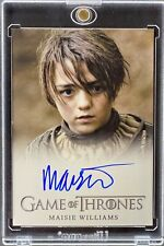 GAME OF THRONES TRADING CARD MAISIE WILLIAMS AS ARYA STARK LIMITED AUTO a [LS]