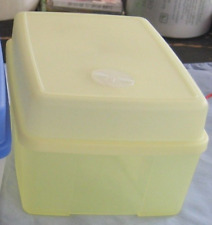 Tupperware Rectangular Ice Cream Container Freezer Mates w/ Dial Yellow New