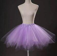 Señoras Vestido de Disfraz de fiesta de Ballet Tutú púrpura Baile Halloween Faldas One Size