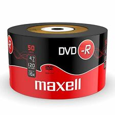 50 x Maxell Blank Discs Recordable DVD-R 4.7GB DVDR 120 Minutes Video 16x Speed