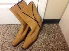 Tothemax light brown leather boots size 8