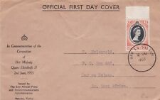 Cover Kenya Dar Es Salaam 1953 Coronation of Queen Elizabeth II