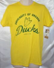 NWT UO University of Oregon Ducks Crew-Neck T-Shirt Yellow Tee Mens size M 38/40