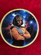Star Trek 5th Anniversary Commemorative Plate - Lt. Worf