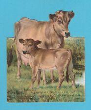 ADVERTISING  -  HOOD'S  SARSAPARILLA  -  RARE ANIMAL STATUETTE - COWS - 1897
