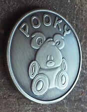 Pooky Garfield's Teddy Bear coin antiqued nickel engravable medallion