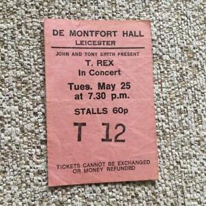 T Rex Marc Bolan ticket De Montfort Hall Leicester 26/05/71 #T12