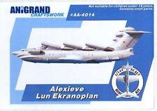 Anigrand Models 1/144 ALEXIEVE LUN EKRANOPLAN Giant Soviet Seaplane