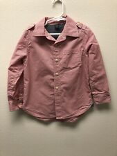 Baby Gap Boys Button Down Shirt Size 5Y Red