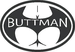 funny rude fun sexy buttman vinyl car bonnet van side sticker rear window door