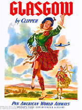 Scotland Glasgow Great Britain Vintage Travel Advertisement Poster Picture Print
