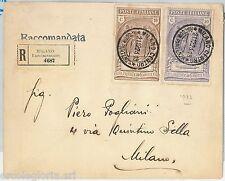 64153 -  REGNO - STORIA POSTALE : Sass # 147 + 148  PREVIDENZA CN su BUSTA 1923