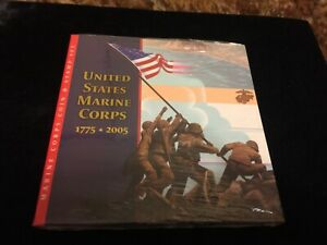 2005 P Marine Corps Coin and Stamp Set BU Silver Dollar US Mint