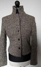 LK Bennett Wool Tweed Black Cream  Jacket Blazer Size 8-10