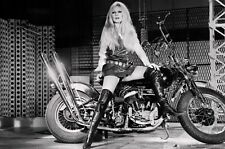 "Brigitte Bardot on Harley Davidson Poster  13"" x 19""   Photo Print"