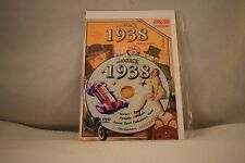 Flickback Greeting or Birthday Card With DVD  For Those Born in 1938    (v417)