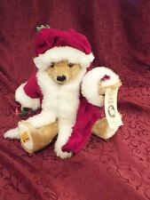 """15"""" Merrythought Mohair Christmas Teddy Bear w/ Tags 10th Aniv Hobby Center Toys"""