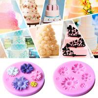 3D Flower Cute Fondant Cake Mold Silicone Mould Sugarcraft Baking Decor Tool
