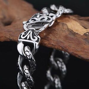 Men's Jewelry  Biker Stainless steel Charming Chain Link Bracelet 11mm 8.26''