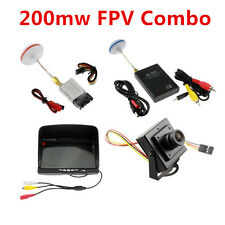 FPV COMBO SYSTEM 5.8Ghz 200mw Video Audio Transmitter Receiver Monitor Camera