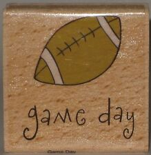 """Katie & Co. Rubber Stamp - """"game day"""" - Football"""