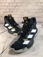 adidas Pro Next Kids Youth Basketball Shoes Black Sport Sneakers - F97305 Sz 4.5