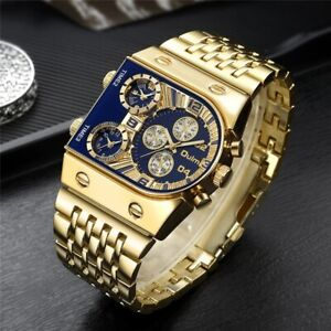 2021 New Oulm Quartz Watches Men Military Waterproof Wristwatch Luxury Watch