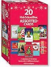 20 Assorted Christmas Greeting Cards - Kids School Bumper Box 20pk w/ envelopes