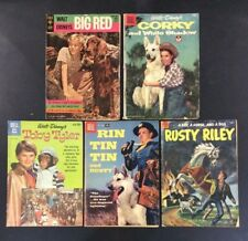 GOLD KEY DELL TV SHOW RIN TIN TIN BIG RED WHITE SHADOW SILVER AGE Comics DISNEY
