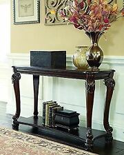 Wonderful Norcastle Traditional Style Ornate Dark Brown Finish Wooden Sofa Accent  Table