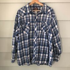Wrangler Apparel Mens Easy Care S//S Brown Plaid Shirt 3X Assorted