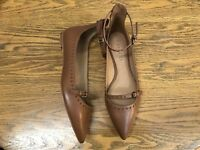 COACH JODY ANKLE STRAP LEATHER FLAT SHOES NWOB SIZE 7.5
