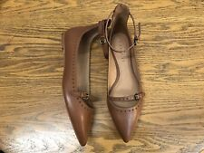 COACH JODY ANKLE STRAP LEATHER FLAT SHOES NWOB SIZE 8