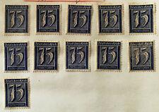German Deutsches Reich 75 Pfennig Stamp 1921