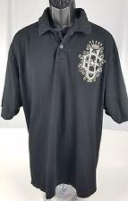 Ecko Unld. Solid Black Jersey Polo Black XXL  EU Logo Unlimited 2XL 100% cotton