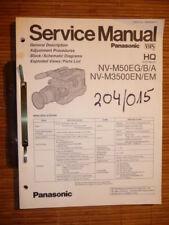 Panasonic REPARACION DE MANUAL DE SERVICIO nv-m50, nv-m3500 vídeo, original