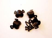 4 Pack Small Two Leg Cabinet Corners W/ Screws - Black     1270BKX4